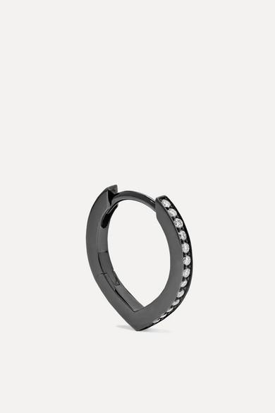 Antifer 18 Karat Black Gold Washed Diamond Earring by Repossi