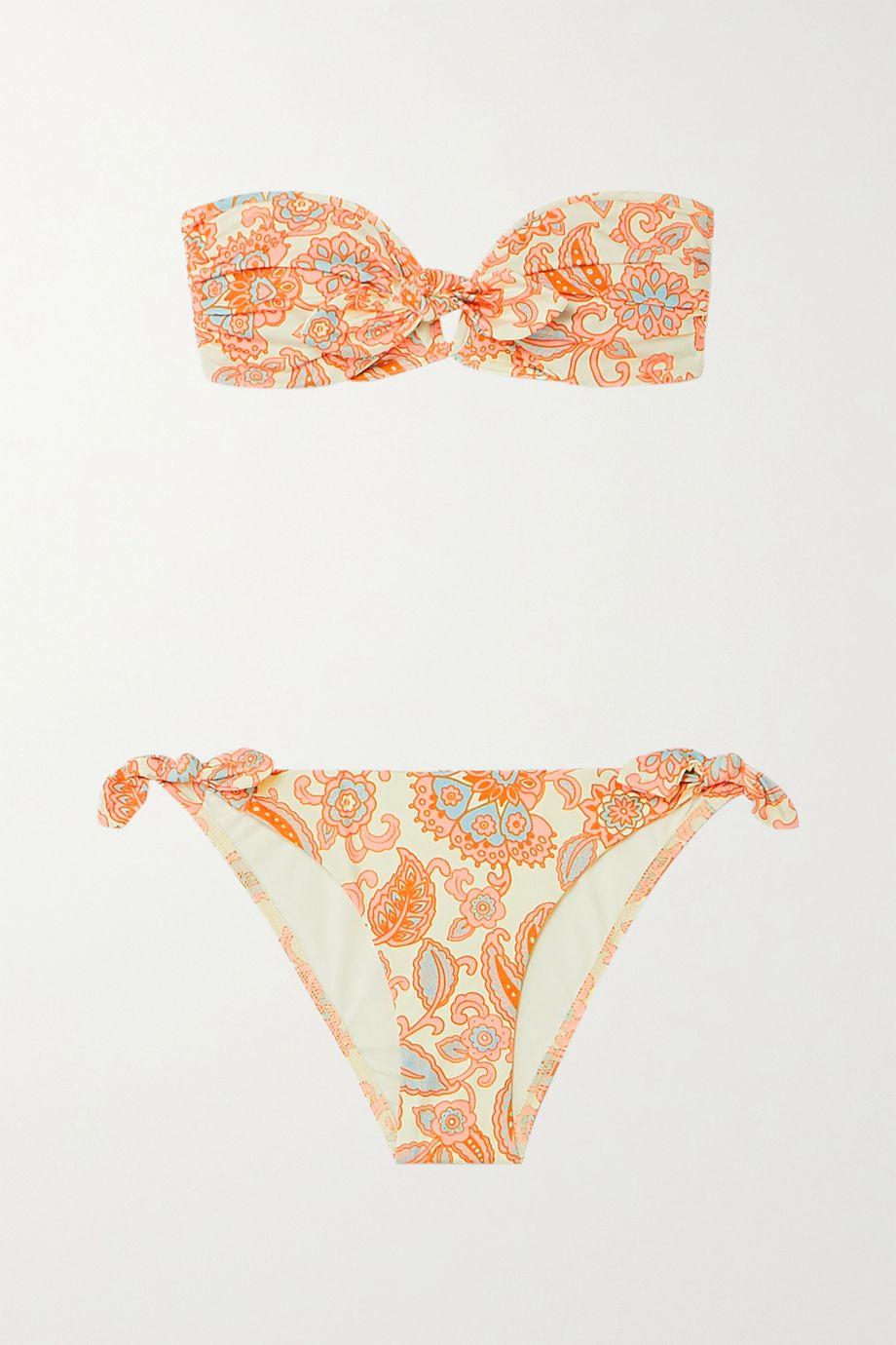 Zimmermann Peggy paisley-print bandeau bikini
