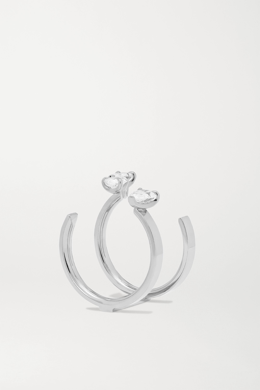 Repossi Serti Sur Vide 18-karat white gold diamond ring