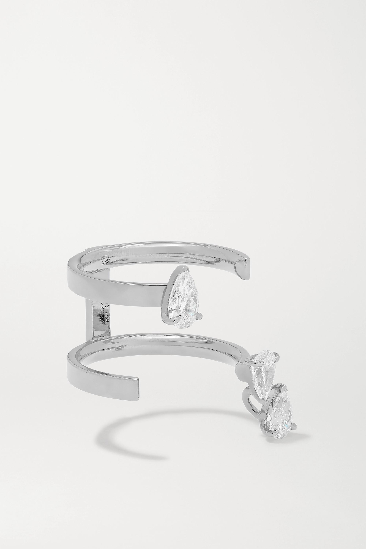 Repossi Bague en or blanc 18 carats et diamants Serti sur Vide
