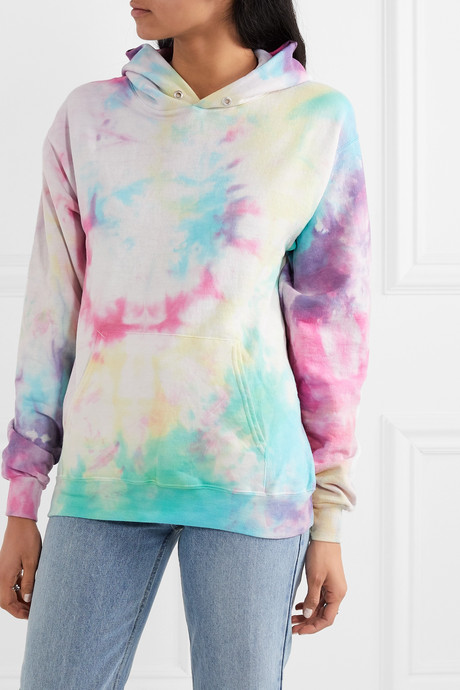 Hailey tie-dyed cotton-blend jersey hoodie