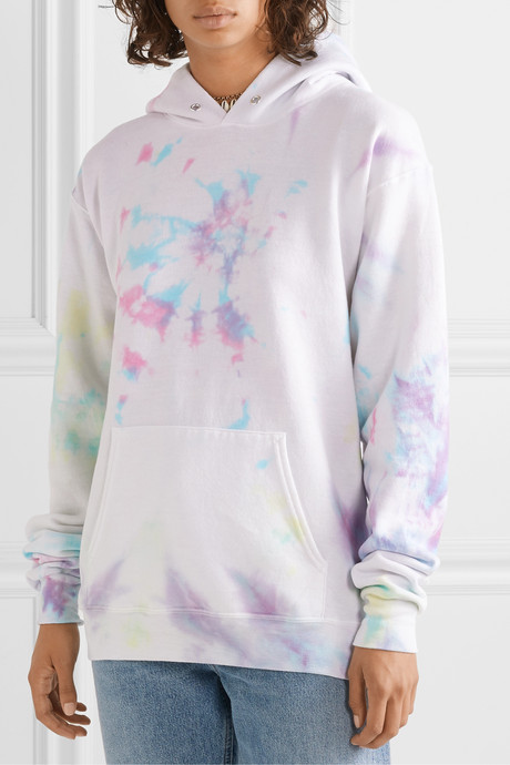 Hailey oversized tie-dyed cotton-blend jersey hoodie