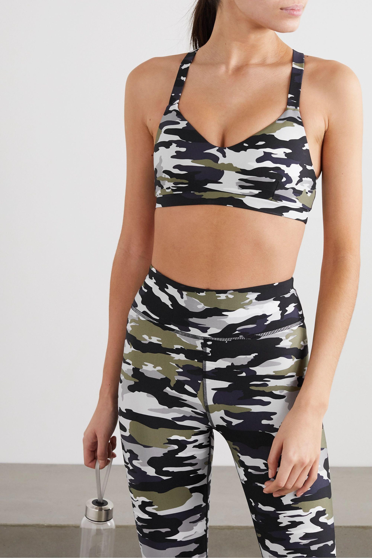 The Upside Pearl camouflage-print stretch sports bra