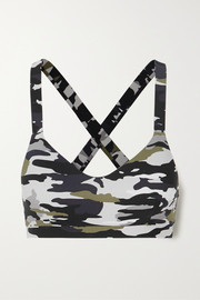 The Upside Pearl camouflage-print stretch sports bra