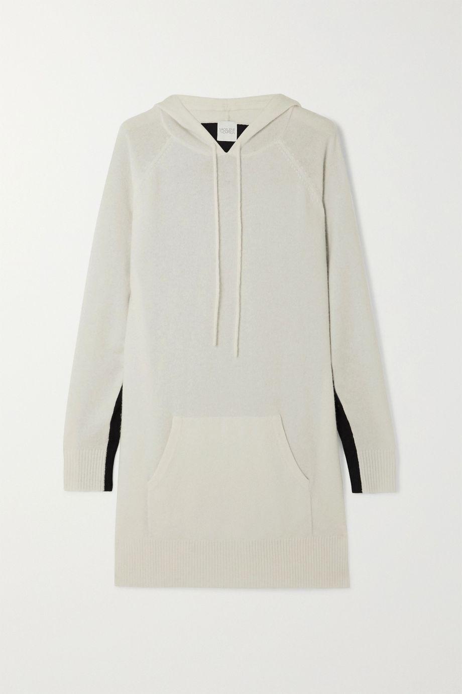Madeleine Thompson Attis two-tone cashmere hoodie