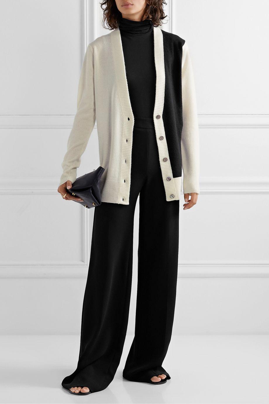 Madeleine Thompson Typhon two-tone cashmere cardigan