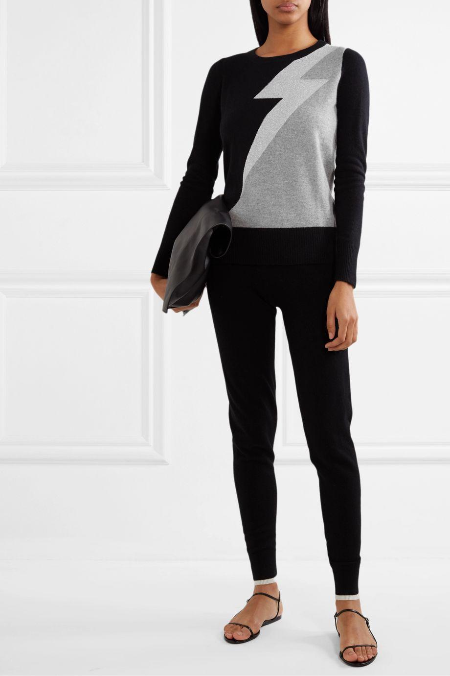 Madeleine Thompson Eros metallic intarsia cashmere sweater