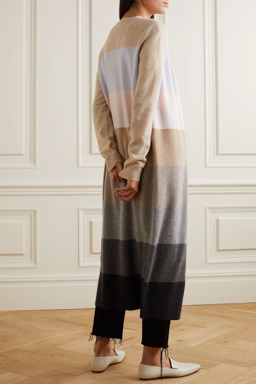 Madeleine Thompson Pricus striped cashmere cardigan