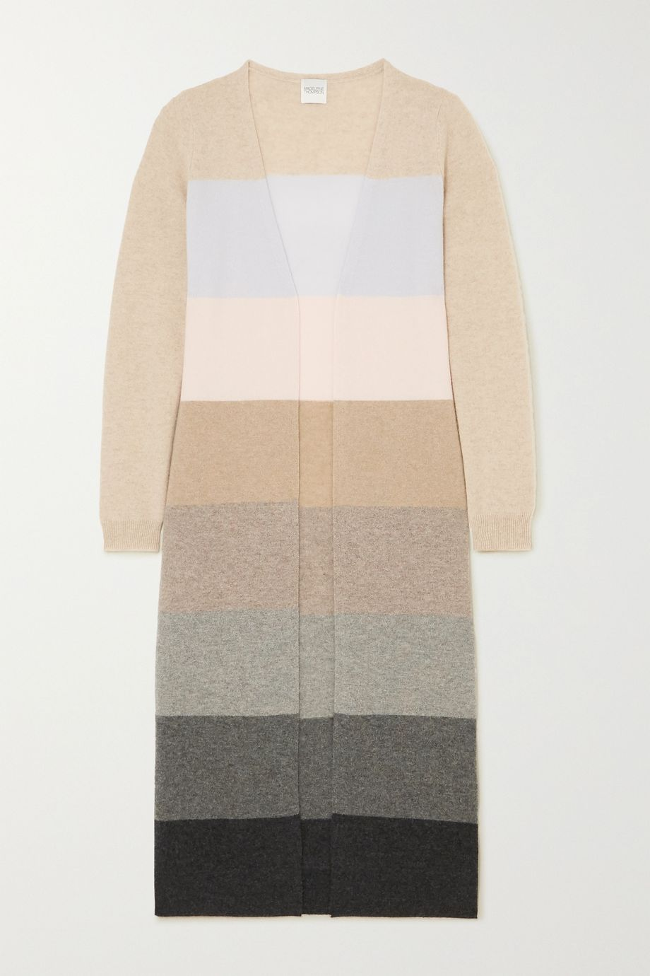 Madeleine Thompson Pricus striped cashmere cardigan