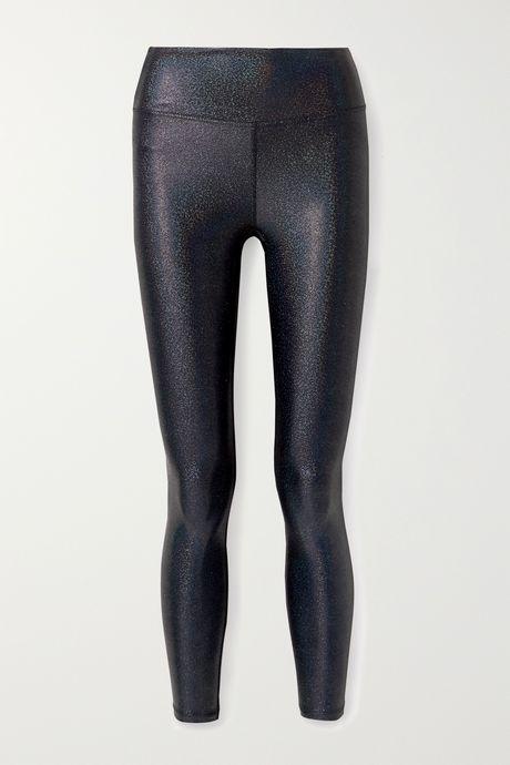 Gunmetal Marvel metallic stretch leggings | Heroine Sport mYiaVs