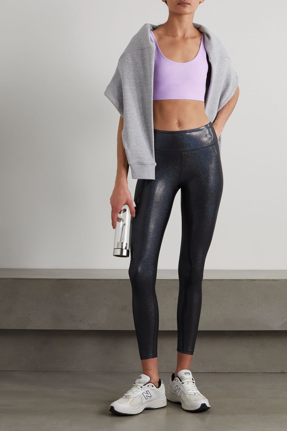Heroine Sport Marvel Leggings aus Stretch-Material in Metallic-Optik