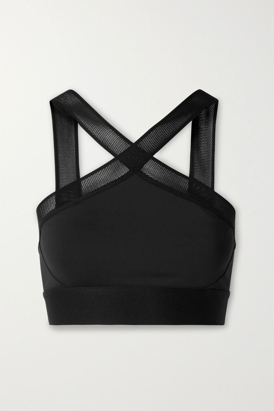 Heroine Sport X mesh-trimmed stretch sports bra