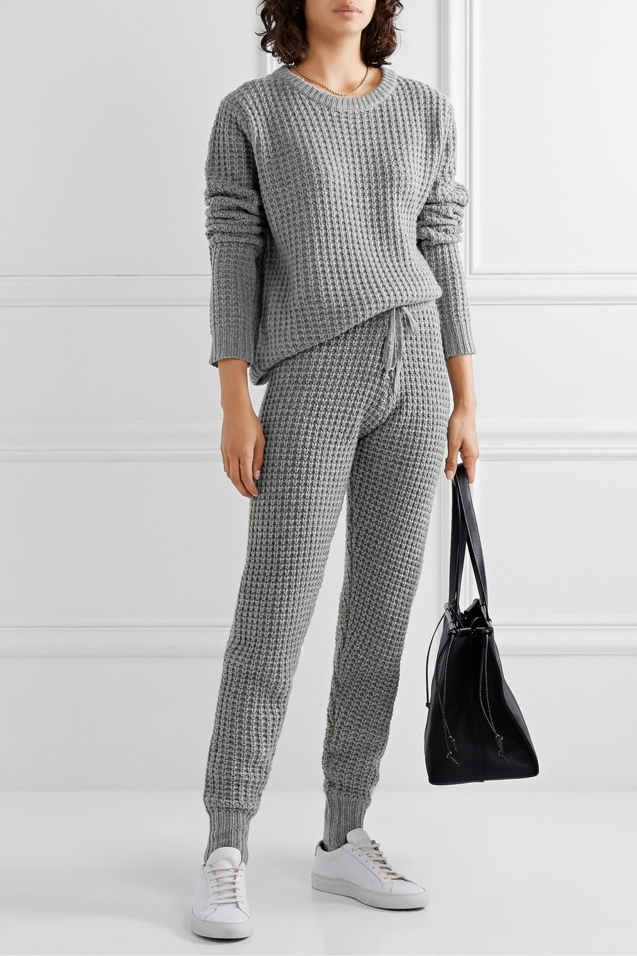 Madeleine Thompson Pull en laine et cachemire mélangés à mailles gaufrées Boreas