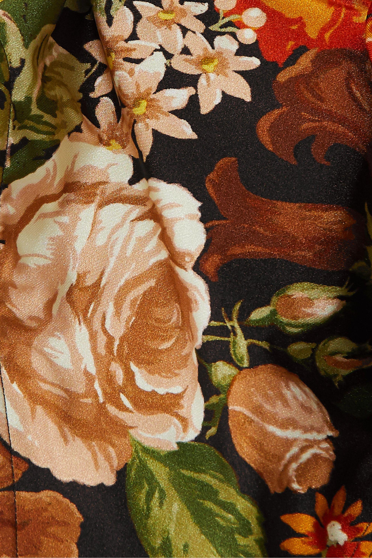 Zimmermann Maillot de bain à imprimé fleuri et à découpes