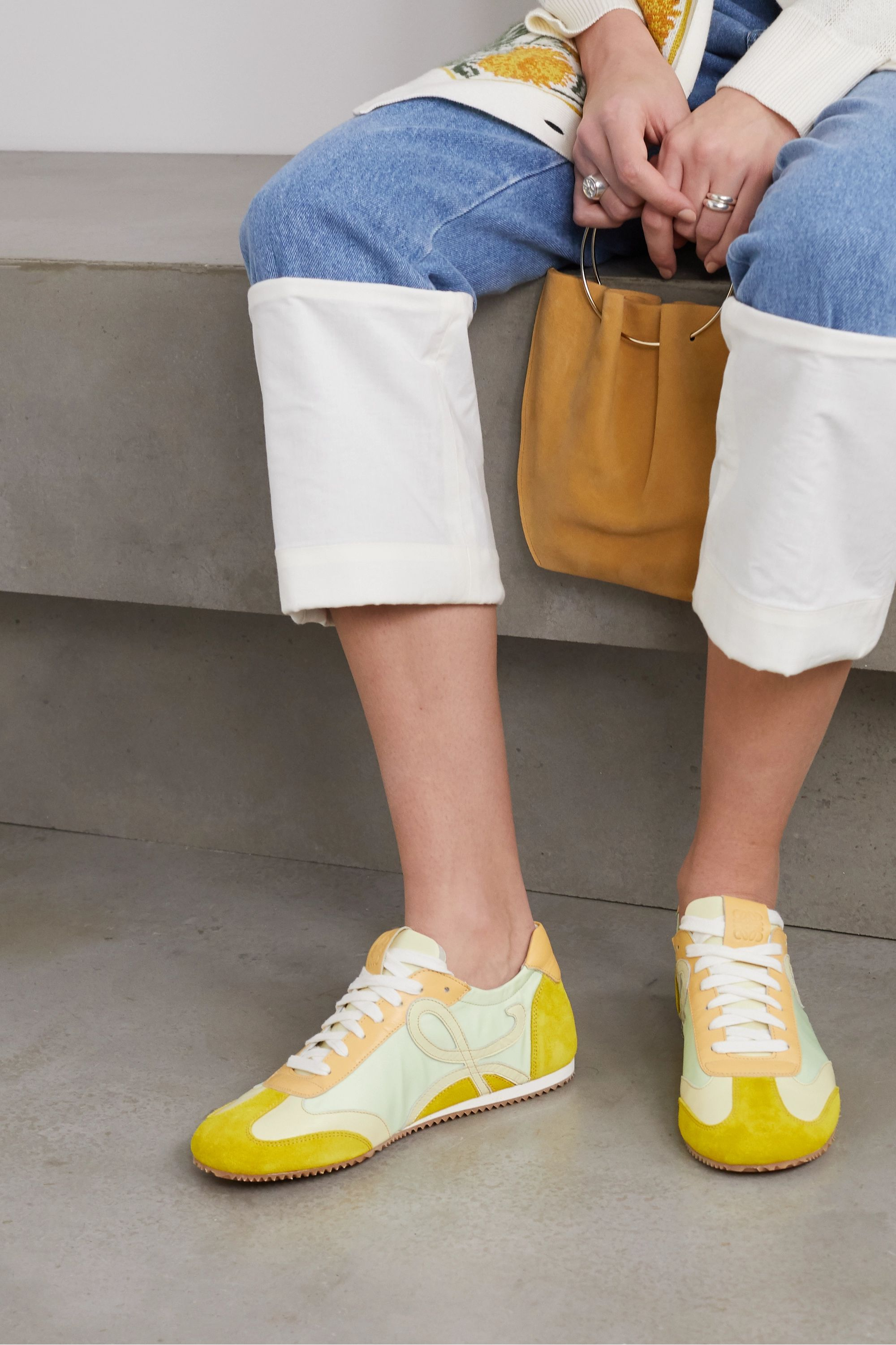 Loewe Suede and leather sneakers