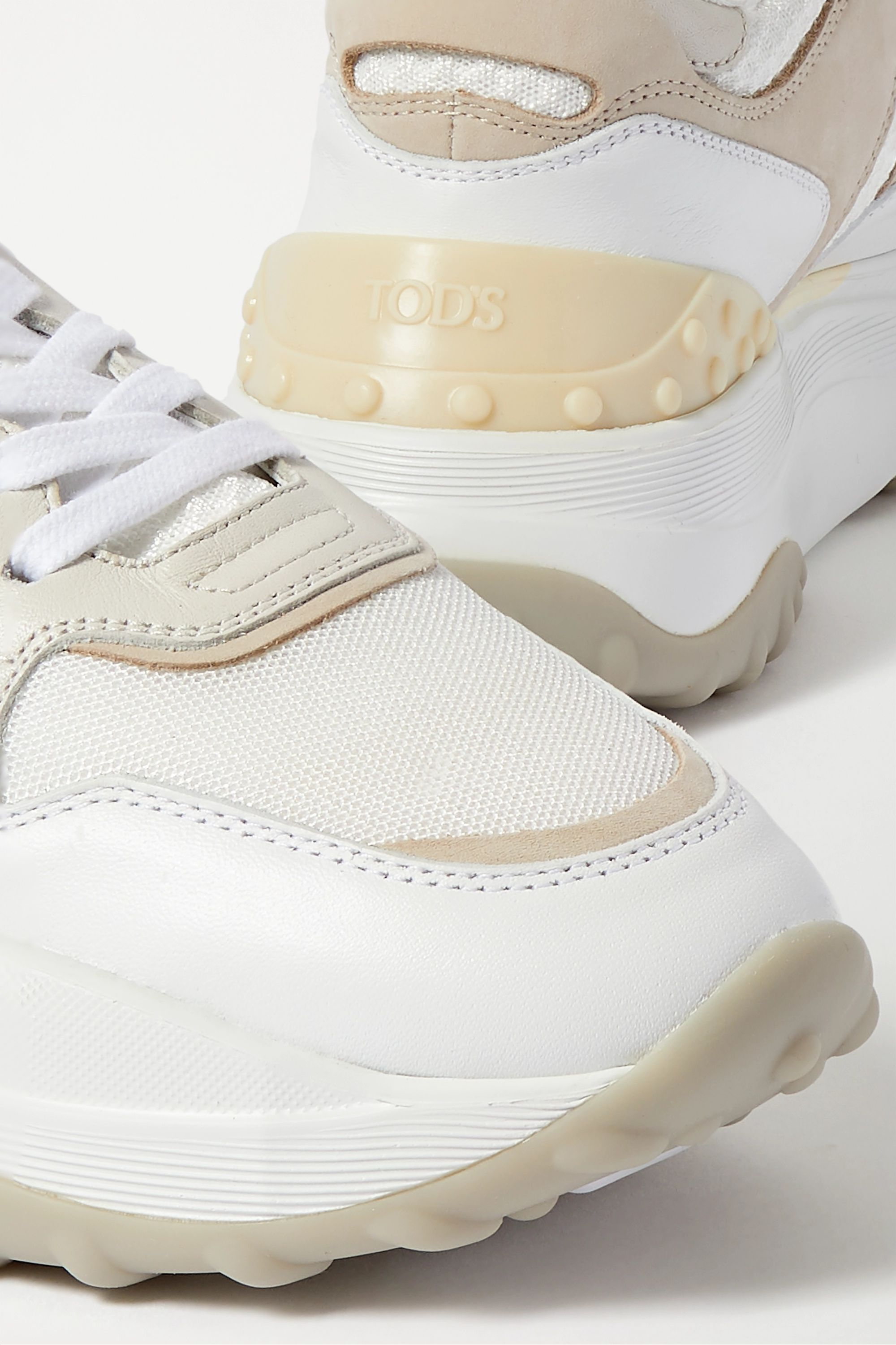 Tod's Leather, mesh and nubuck sneakers