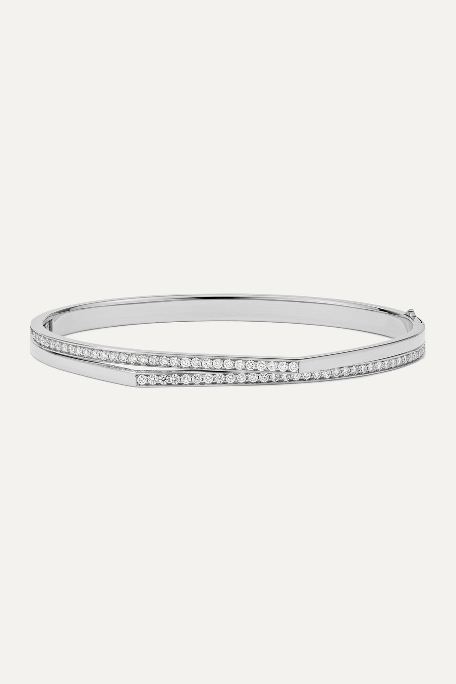 Repossi Antifer 18-karat white gold diamond bracelet