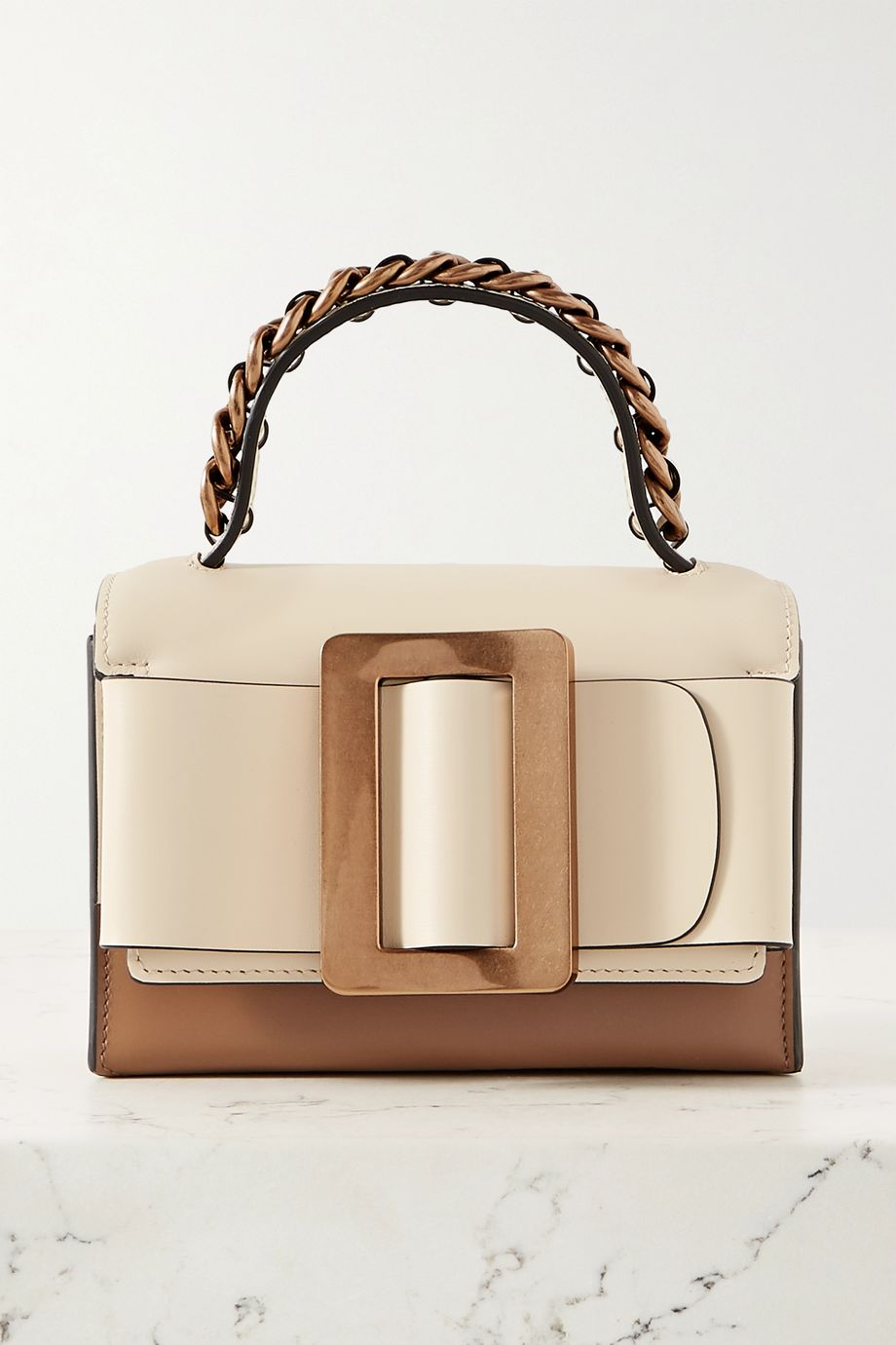 BOYY Fred buckled two-tone leather tote