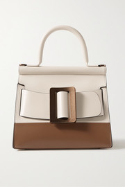 Karl 24 small buckled two-tone leather tote