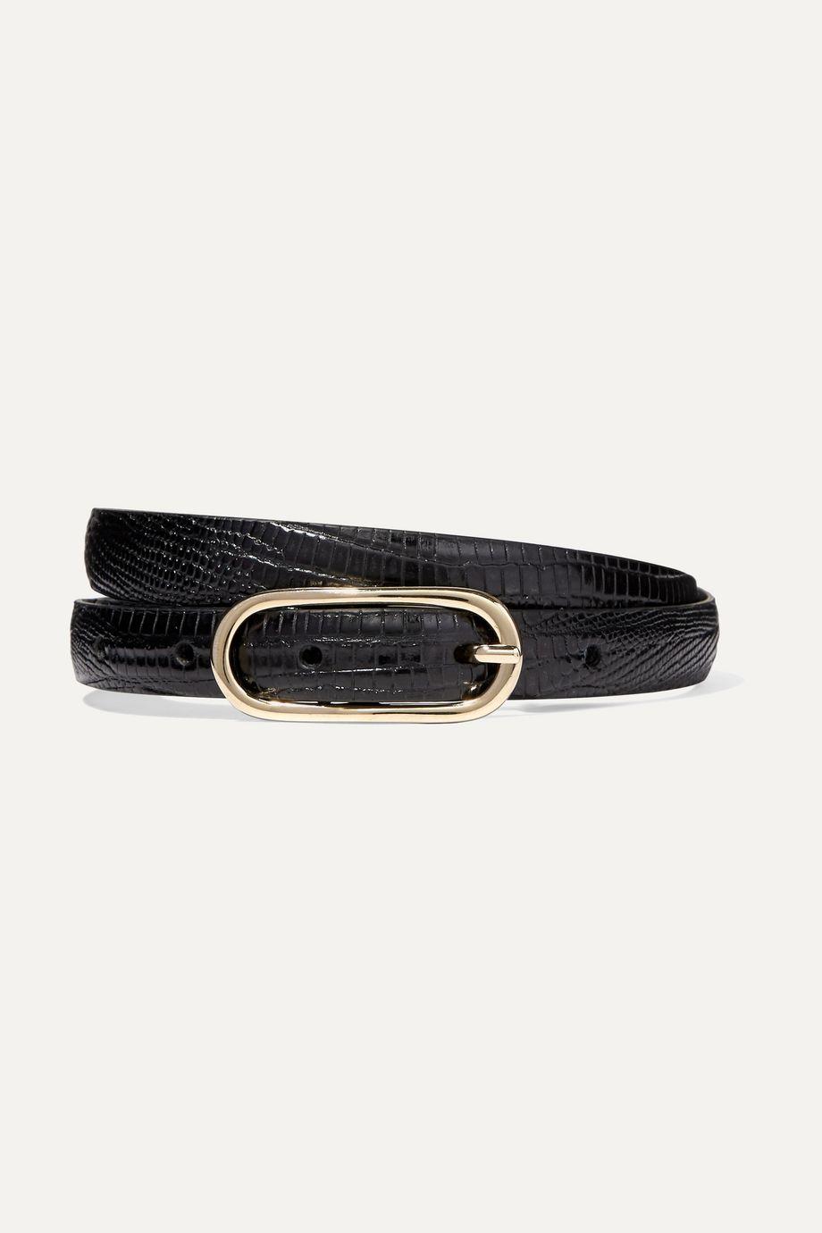 Anderson's Lizard-effect leather belt