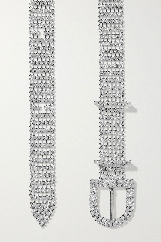 Loeffler Randall Loren crystal-embellished silver-tone belt
