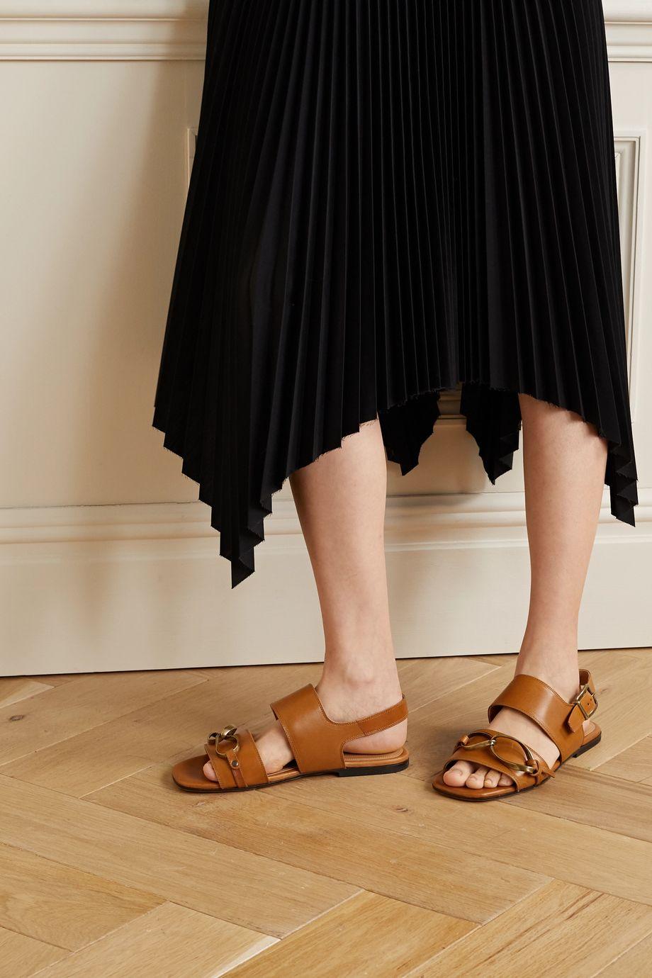 Dries Van Noten Sandalen aus Leder mit Verzierungen