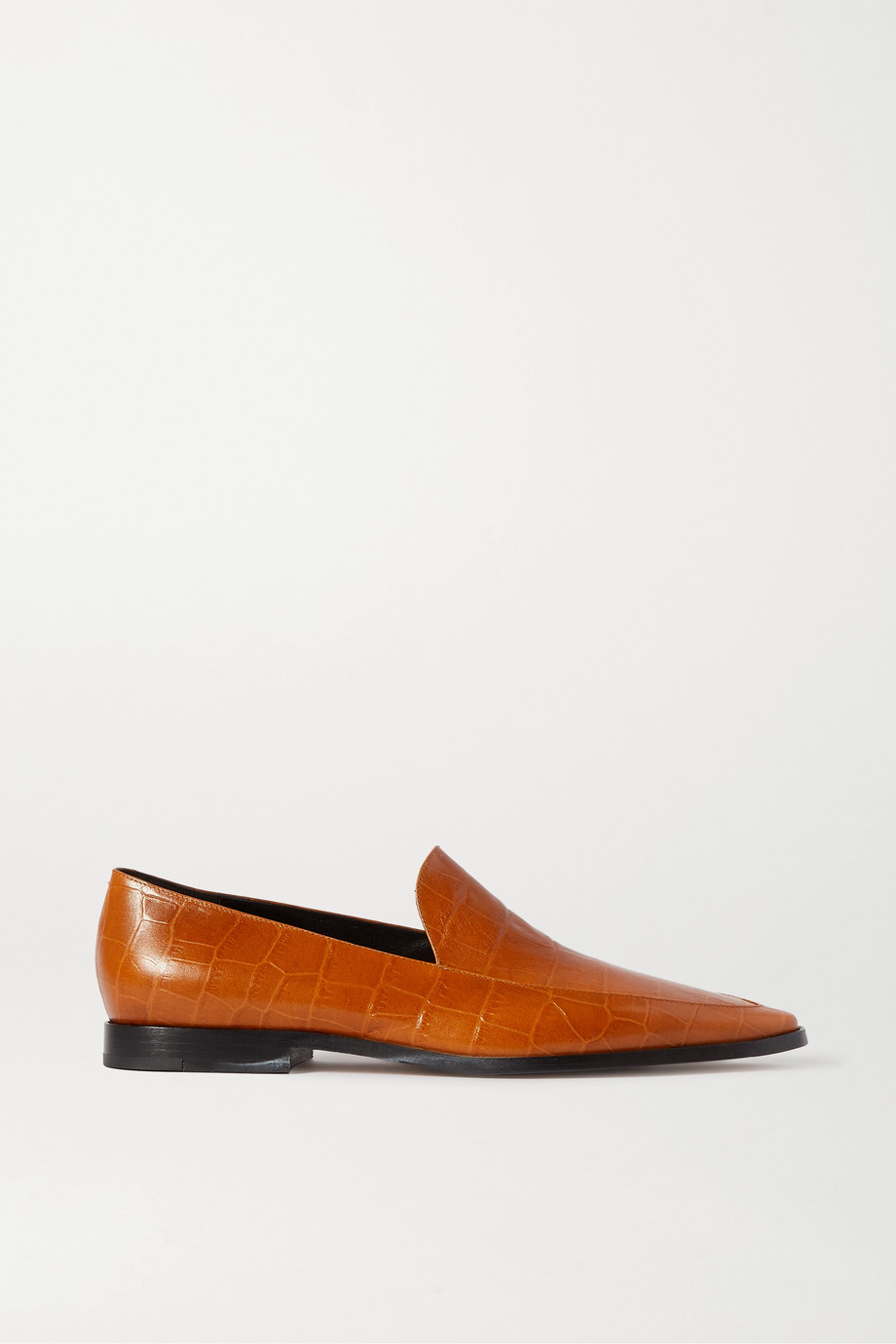 Dries Van Noten Croc-effect kangaroo loafers