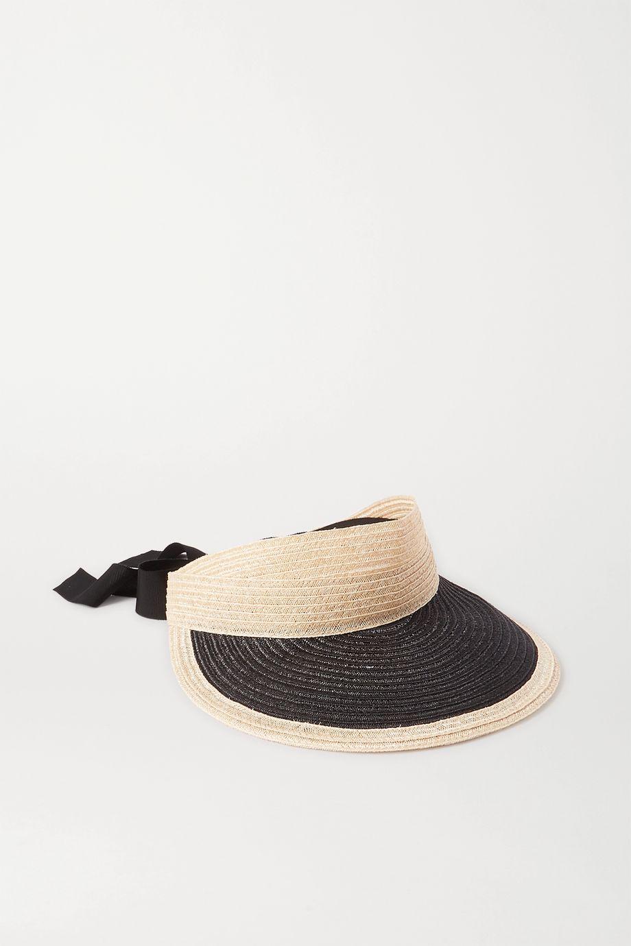 Eugenia Kim Ricky grosgrain-trimmed hemp-blend visor