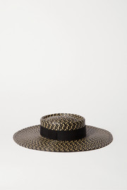 Eugenia Kim June grosgrain-trimmed faux straw hat