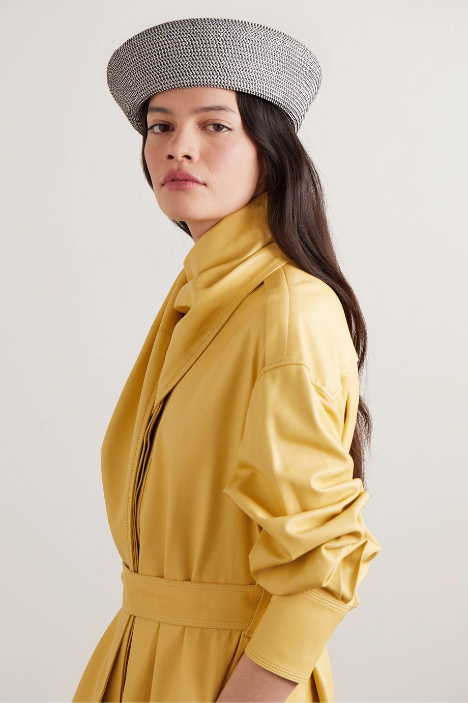 Eugenia Kim Zoe two-tone woven beret