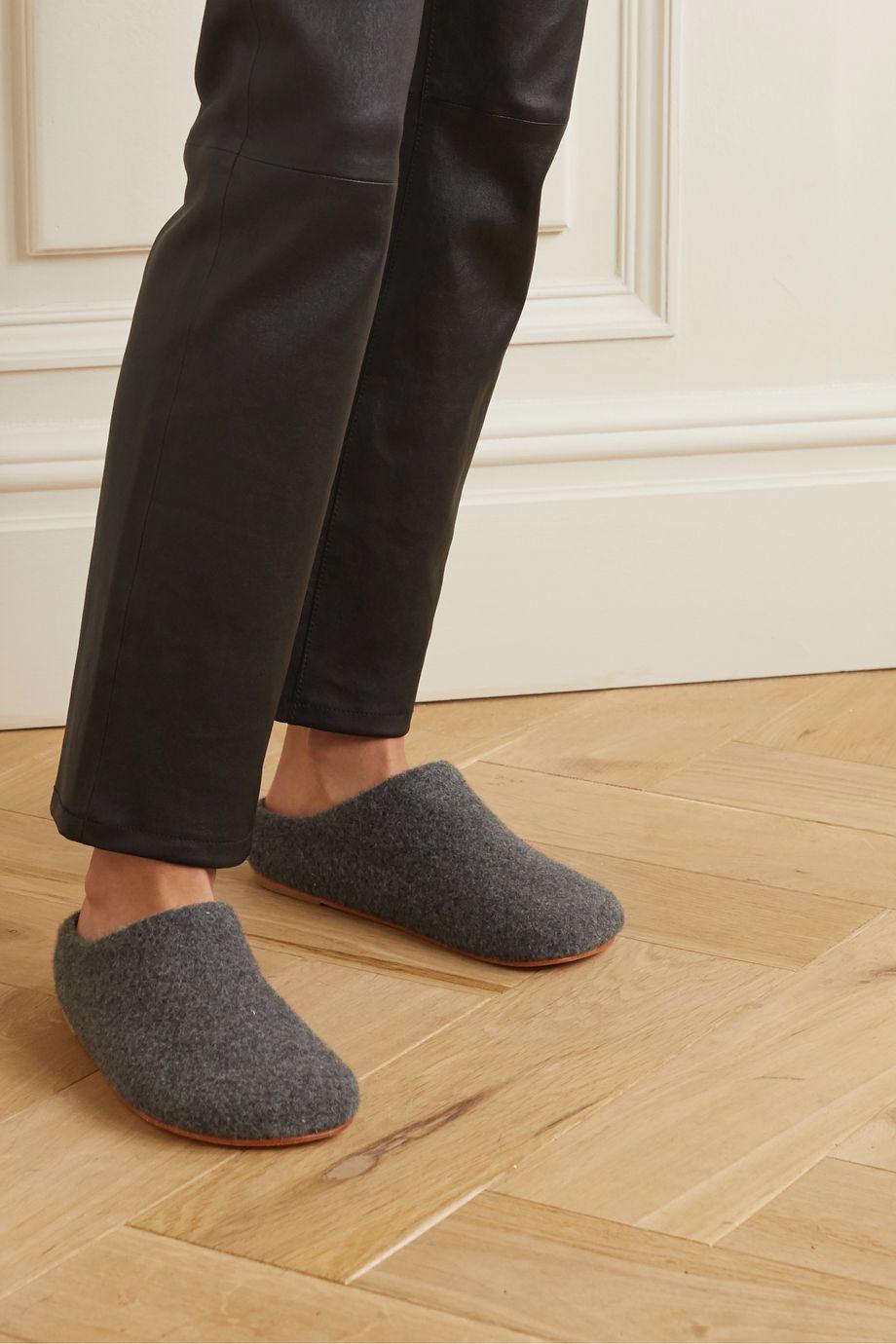 Lauren Manoogian Mono alpaca-blend slippers