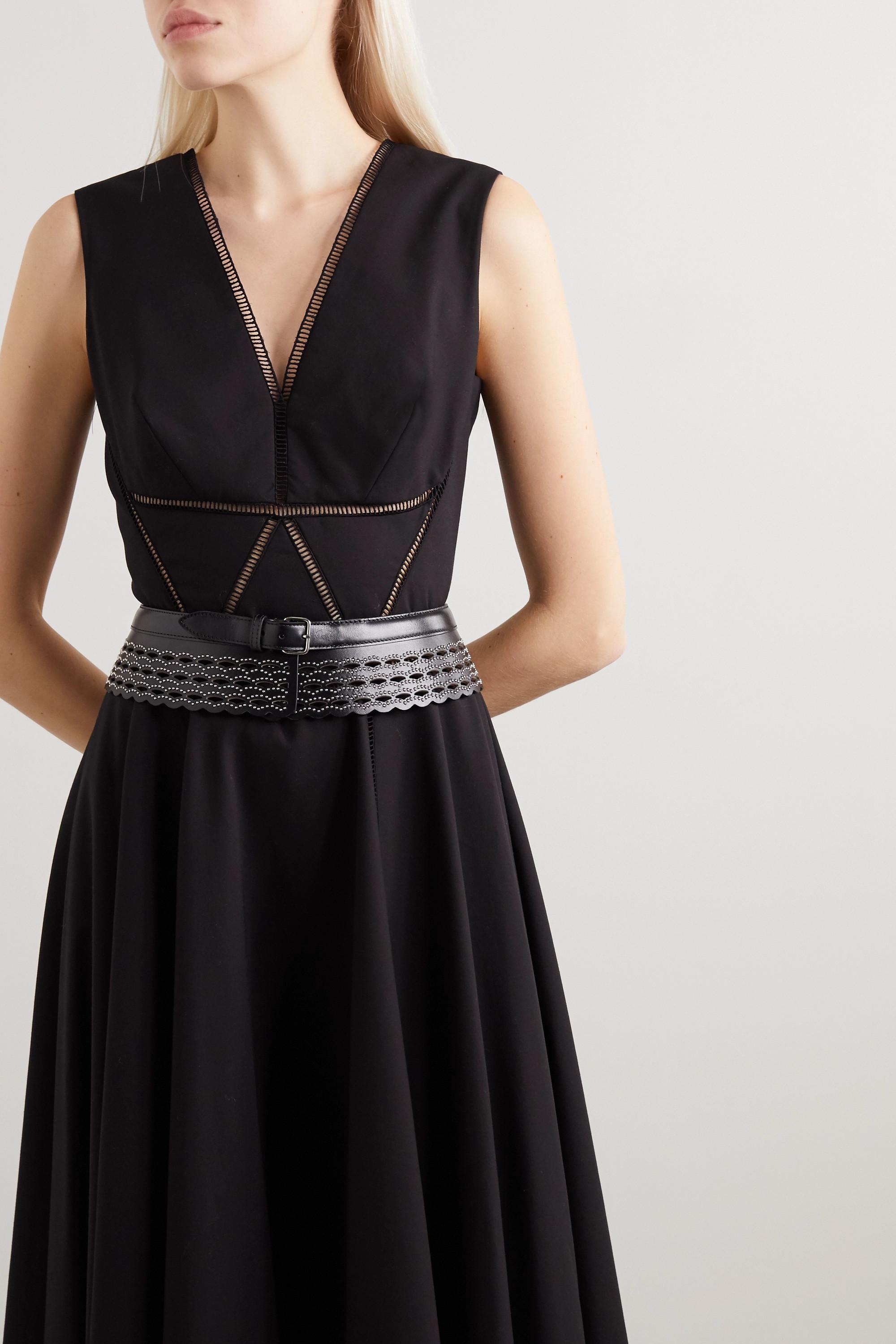 Alaïa Taillengürtel aus lasergeschnittenem Leder mit Nieten