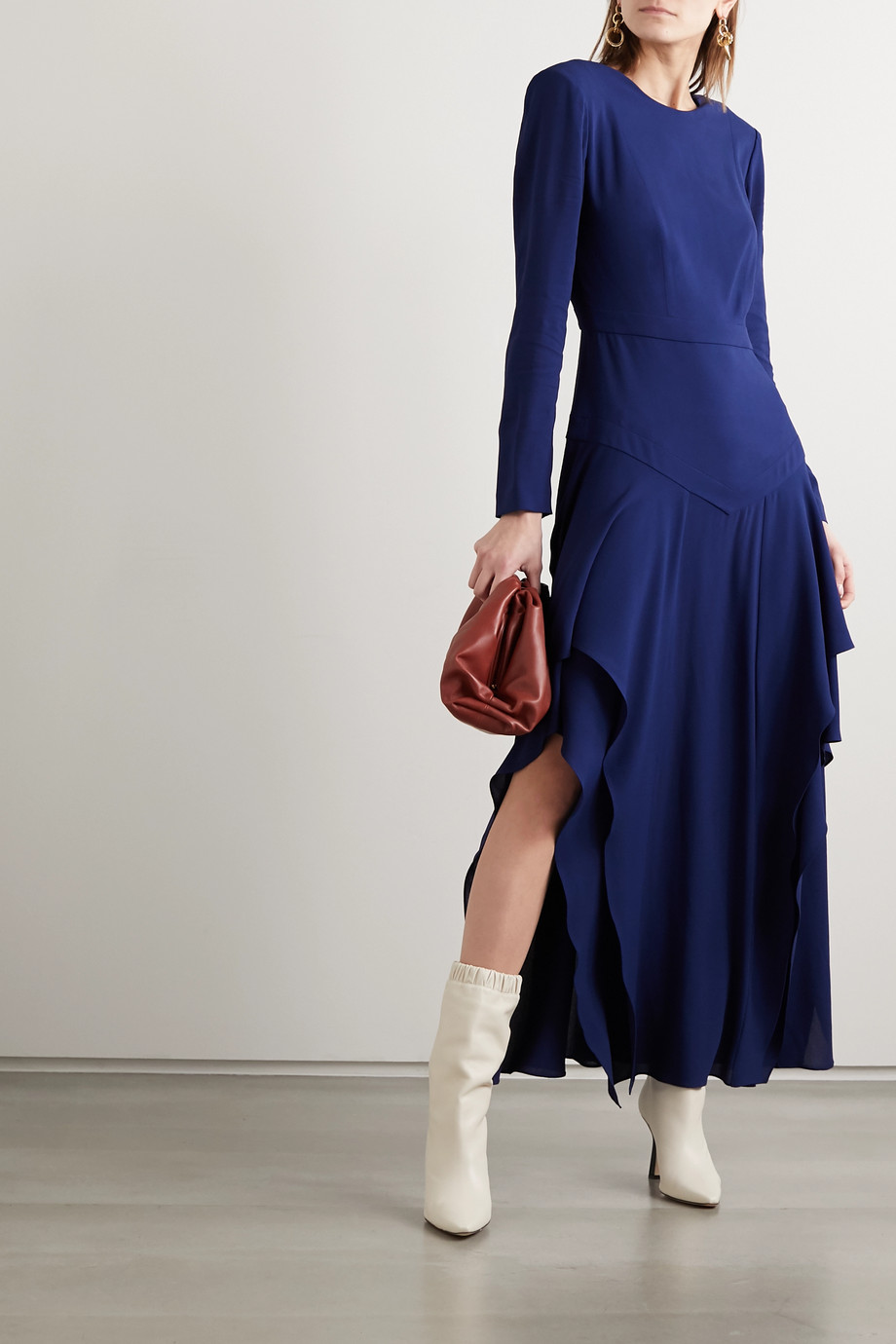 Stella McCartney Ruffled crepe maxi dress