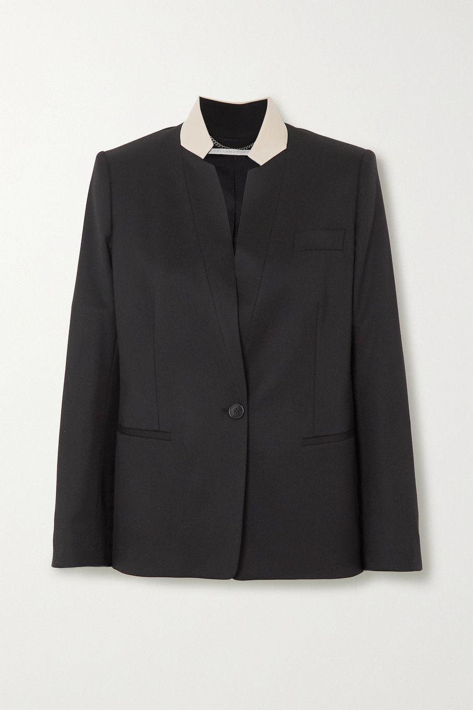 Stella McCartney Two-tone wool blazer