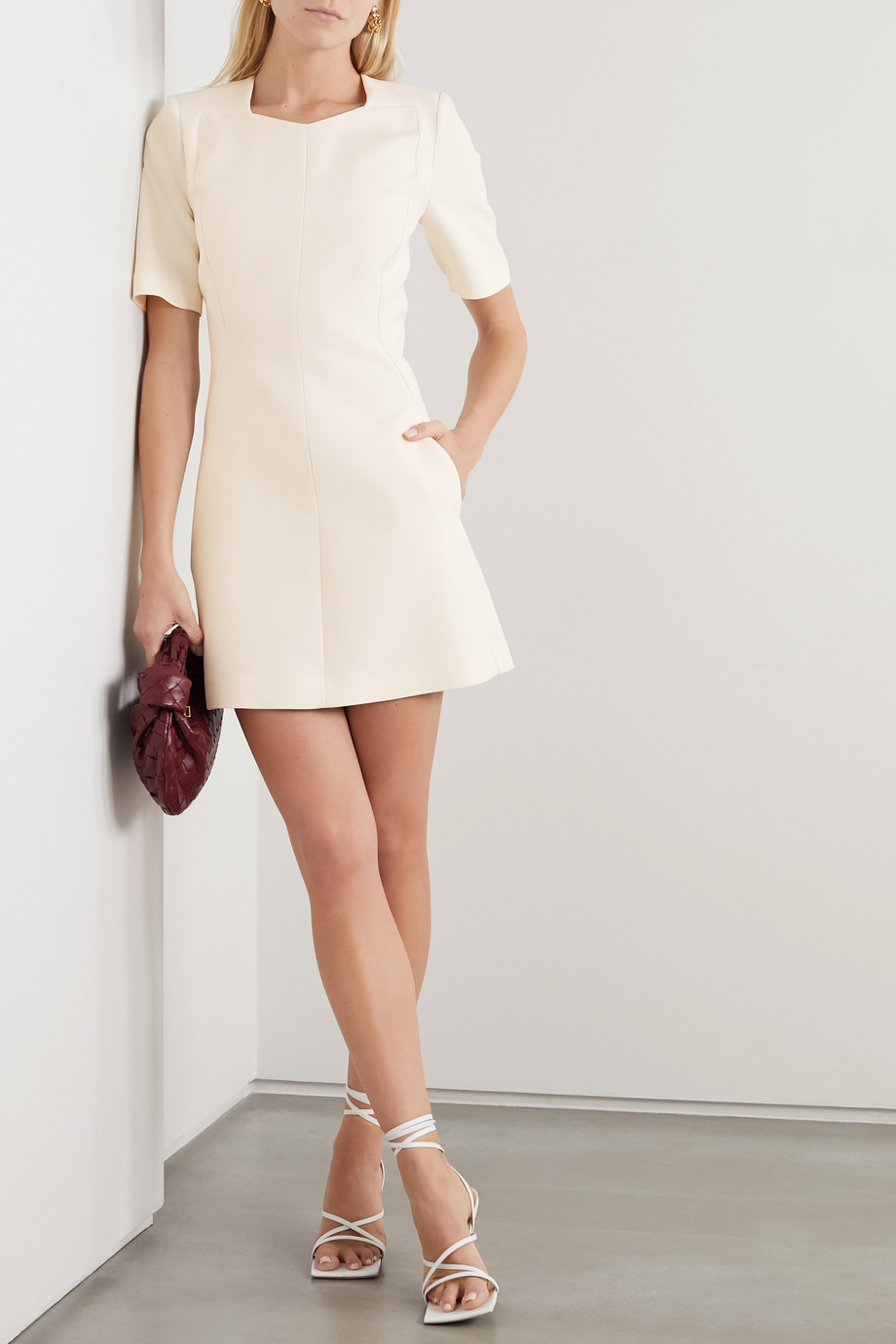 Stella McCartney Wool-blend twill mini dress