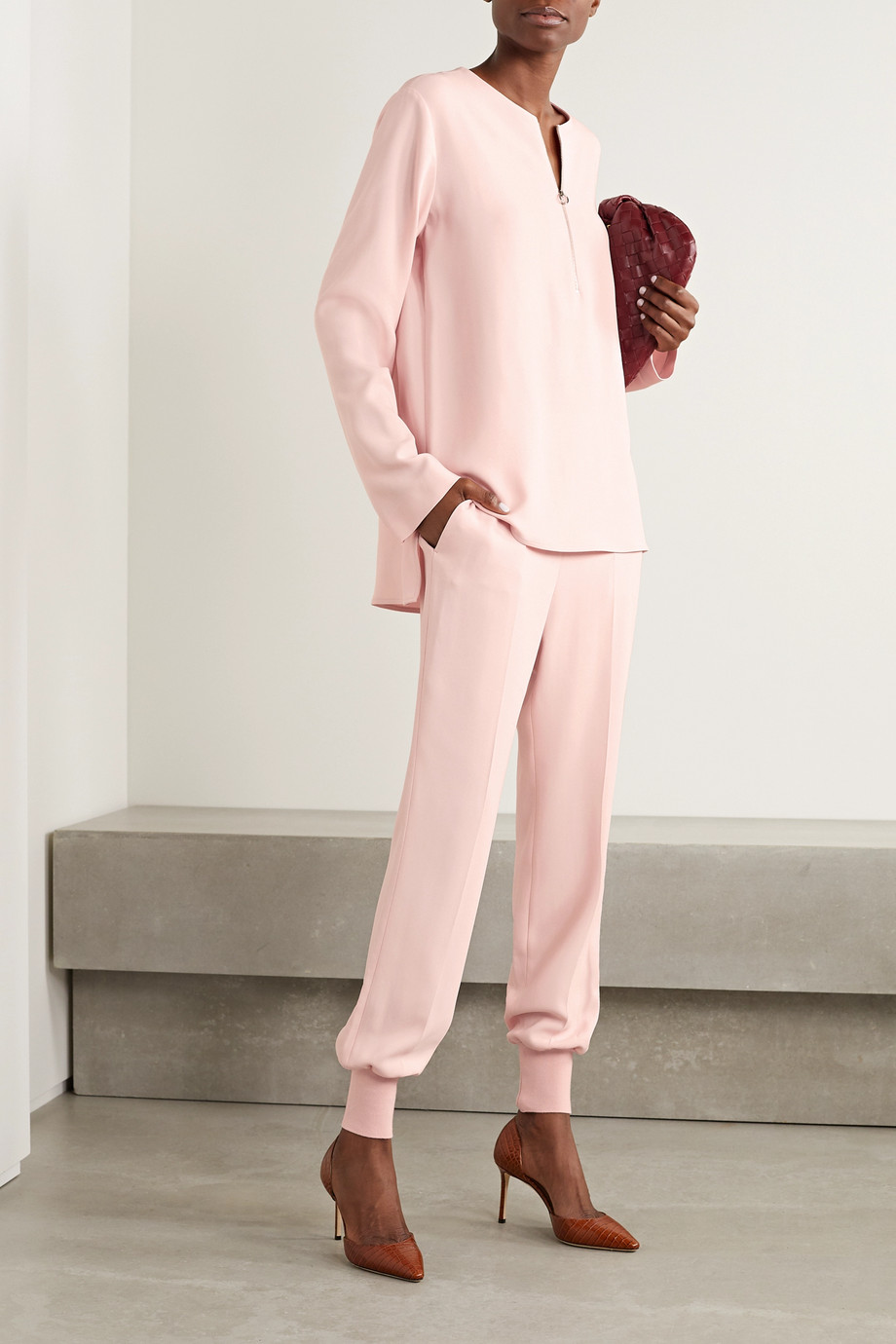 Stella McCartney + NET SUSTAIN Julia crepe track pants