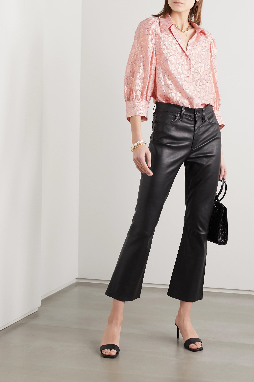 Stella McCartney Metallic fil coupé silk-blend shirt
