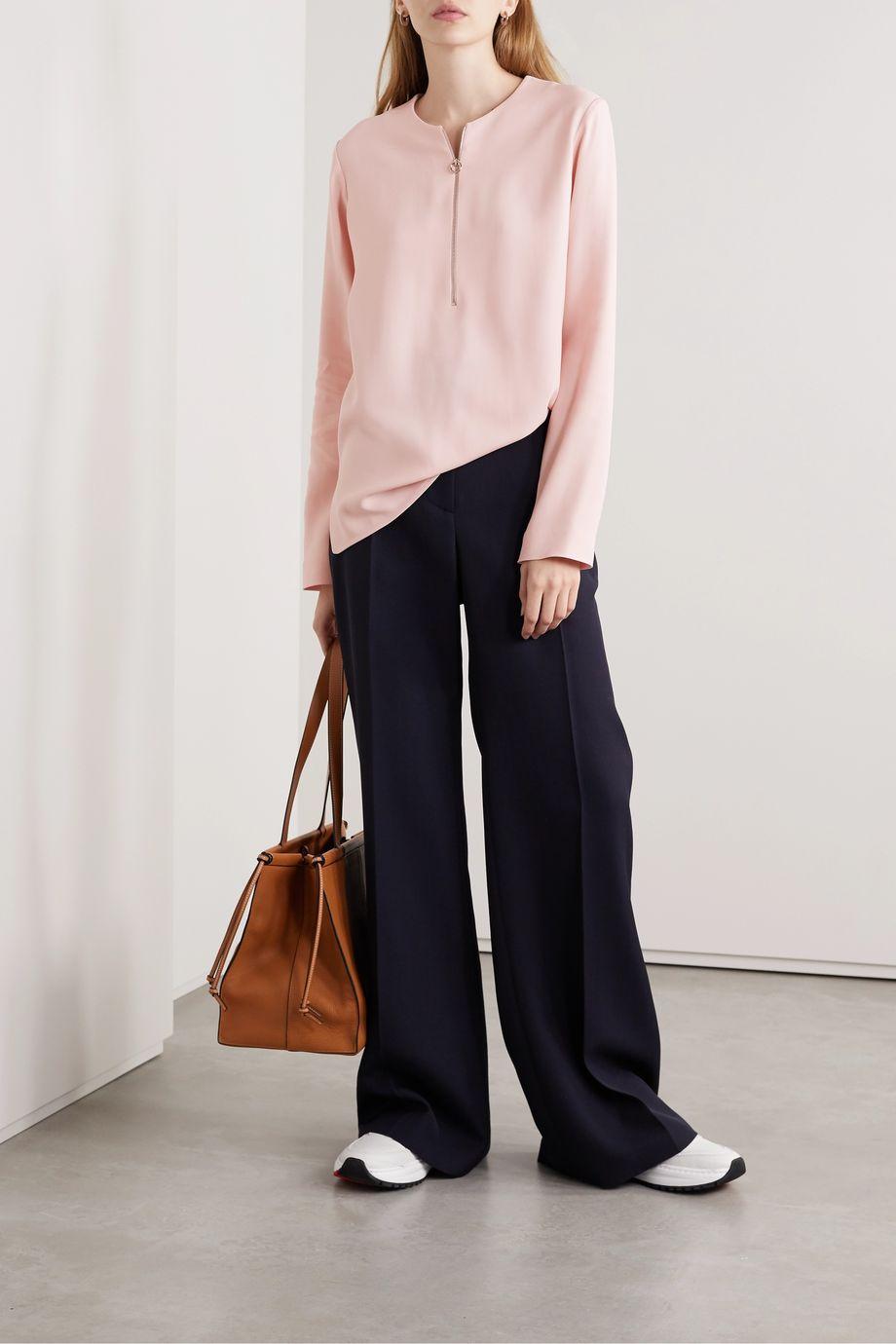Stella McCartney + NET SUSTAIN Arlesa stretch-cady blouse