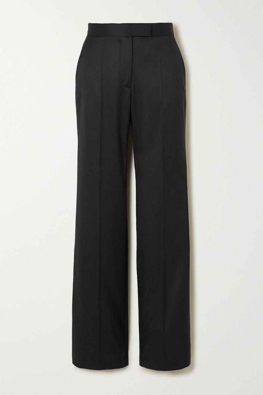 Stella McCartney Grain de poudre wool straight-leg pants