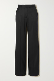 Stella McCartney Grain de poudre wool straight-leg pants