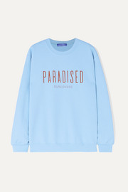Paradised Printed cotton-blend jersey sweatshirt