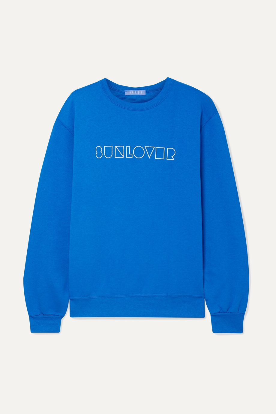 Paradised Sunlover embroidered cotton-blend jersey sweatshirt