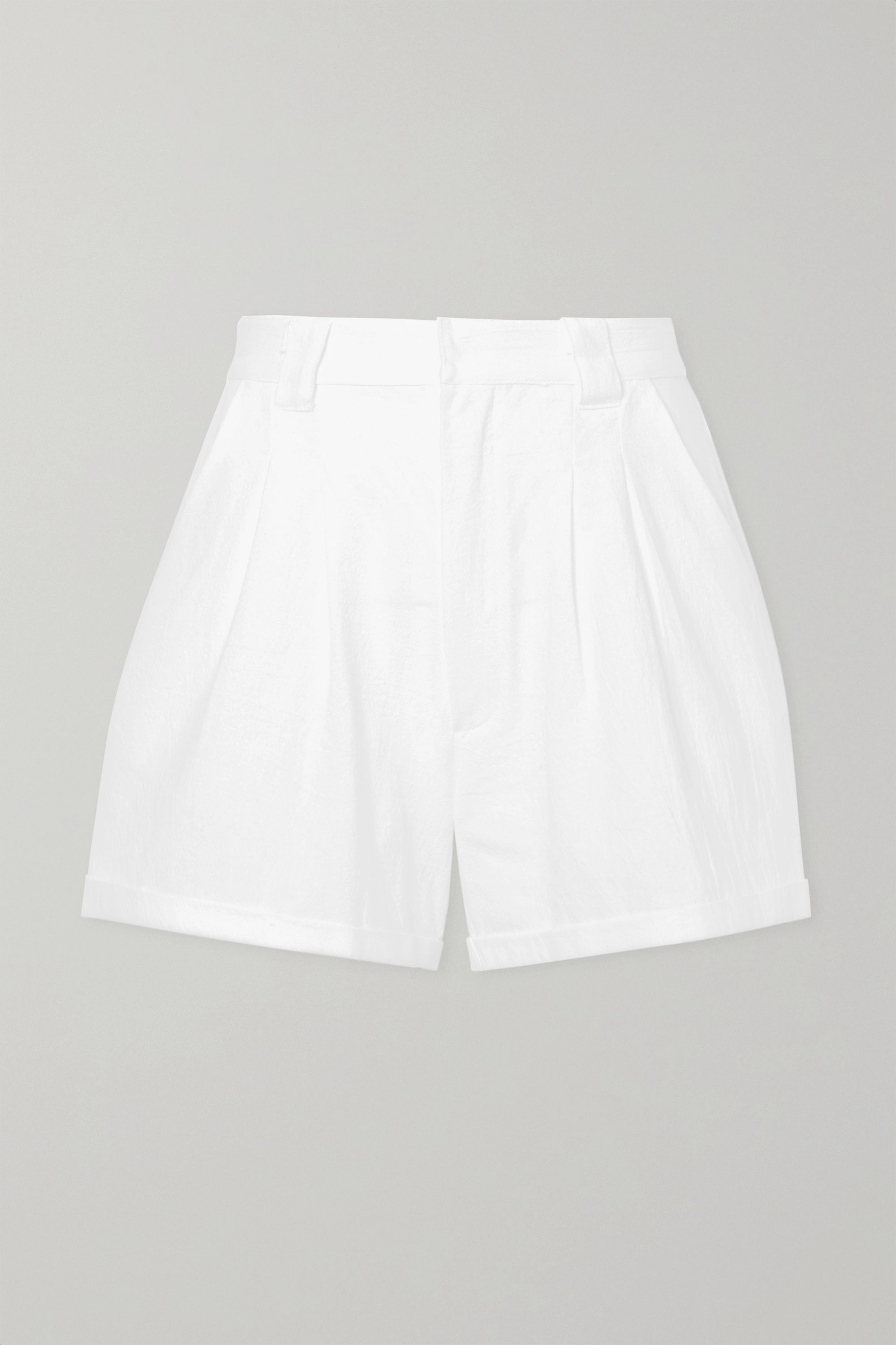 Paradised Jamie crinkled cotton-gauze shorts