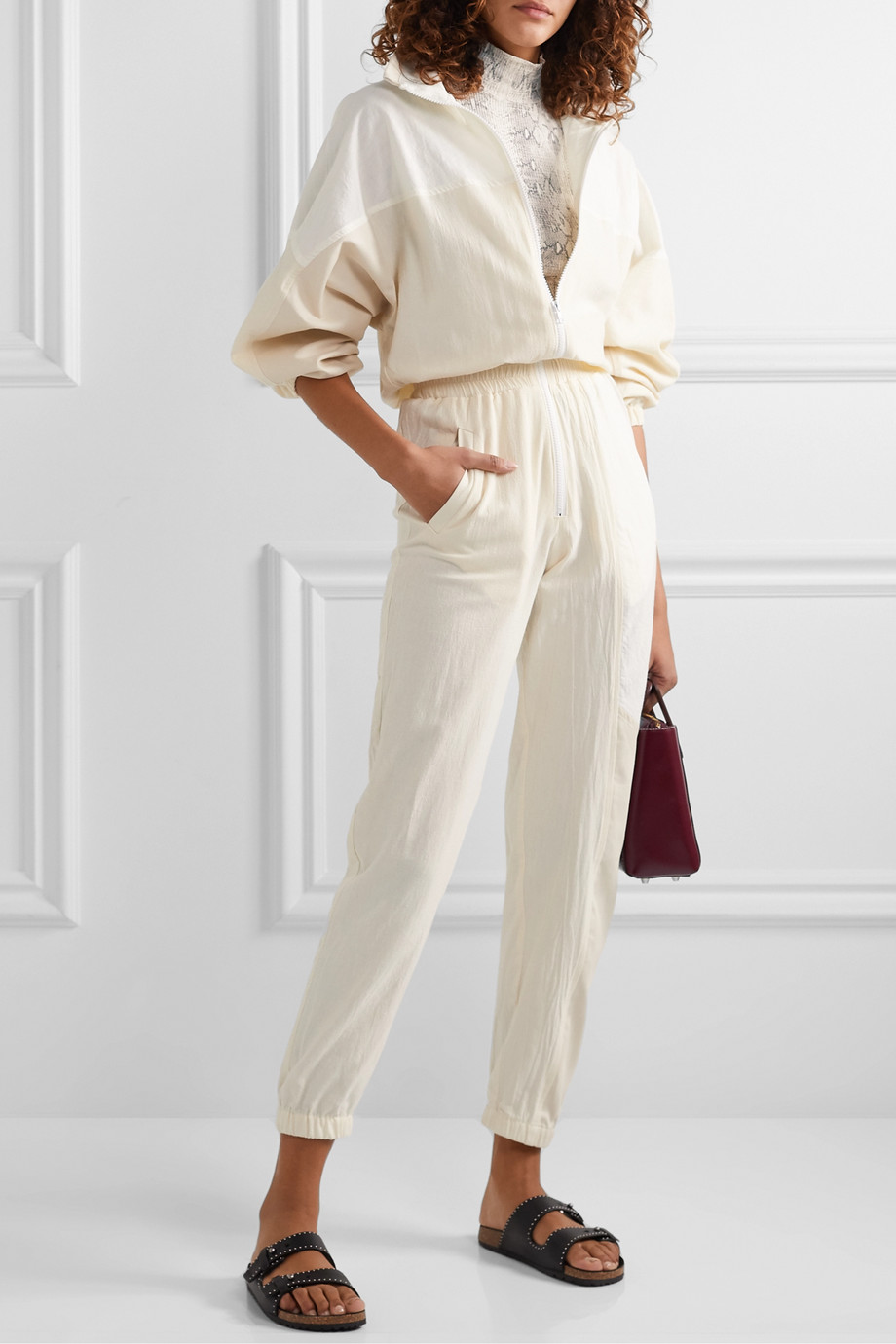Paradised Kelsey paneled cotton-blend voile and twill jumpsuit