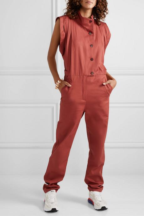 Anna cotton-twill jumpsuit