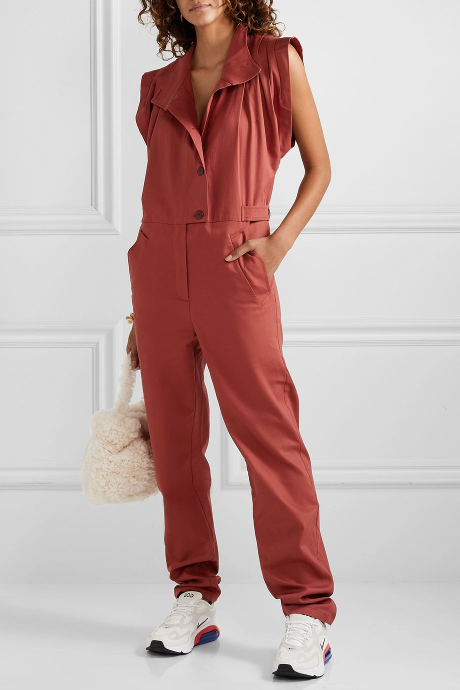 Paradised Anna cotton-twill jumpsuit