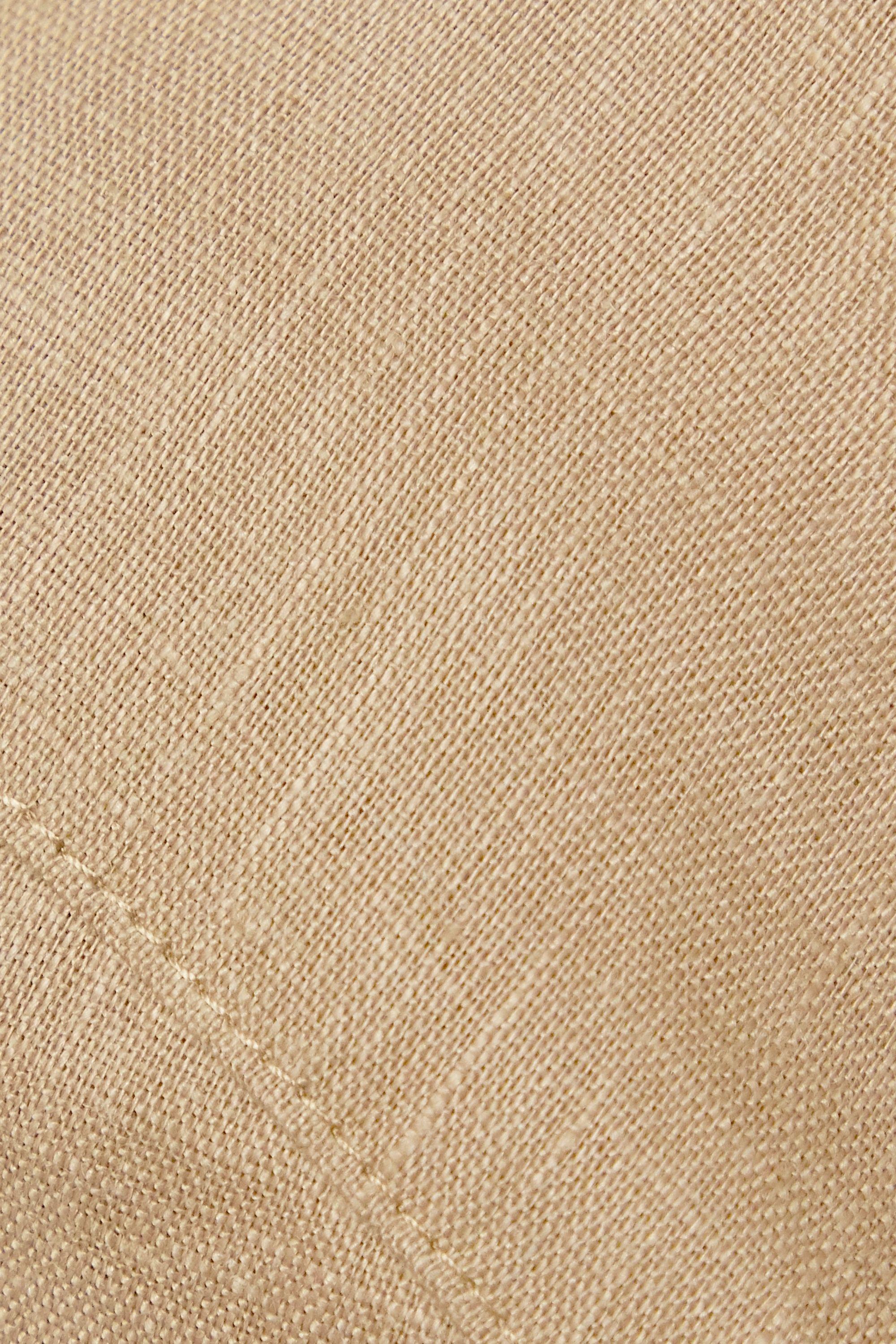 Miguelina Tilly crochet-trimmed linen bralette