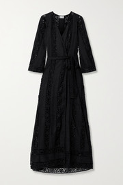 Miguelina Lucinda cotton guipure lace robe