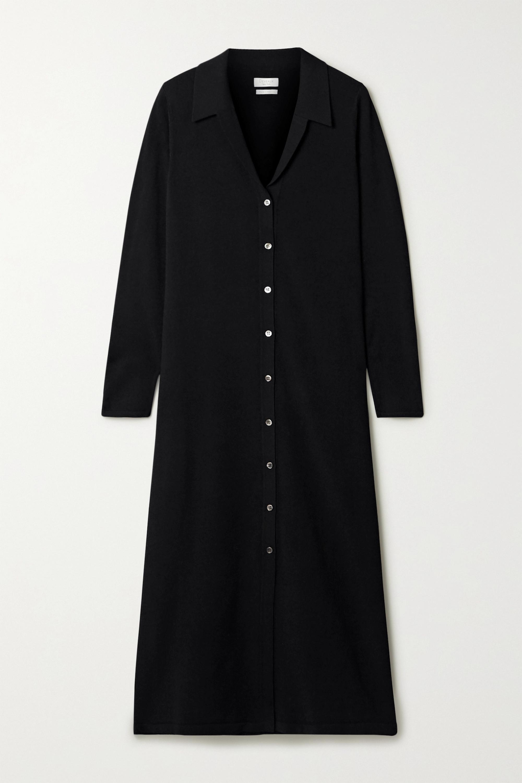 Deveaux Nye 弹力针织中长衬衫式连衣裙