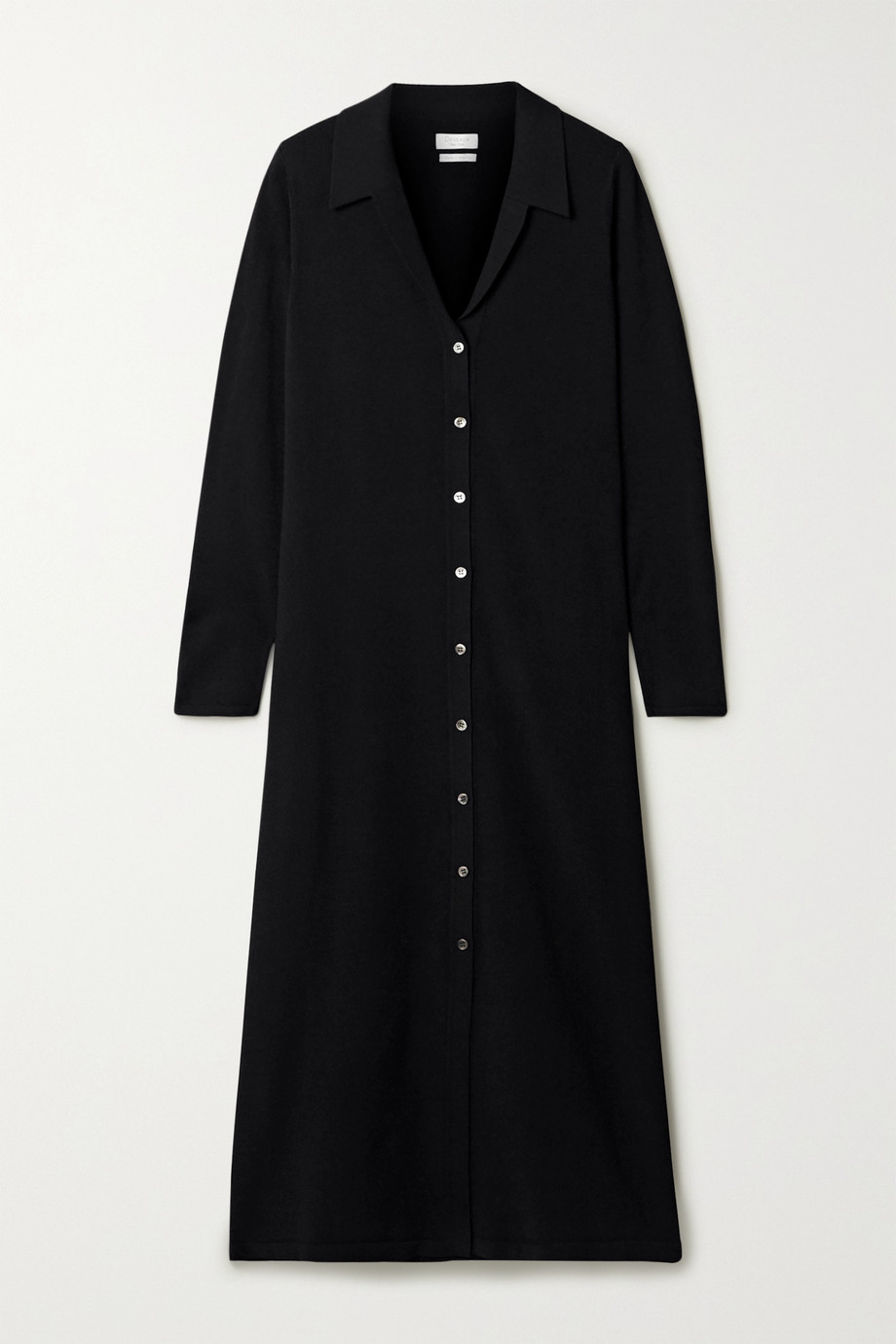 Deveaux Nye stretch-knit midi shirt dress